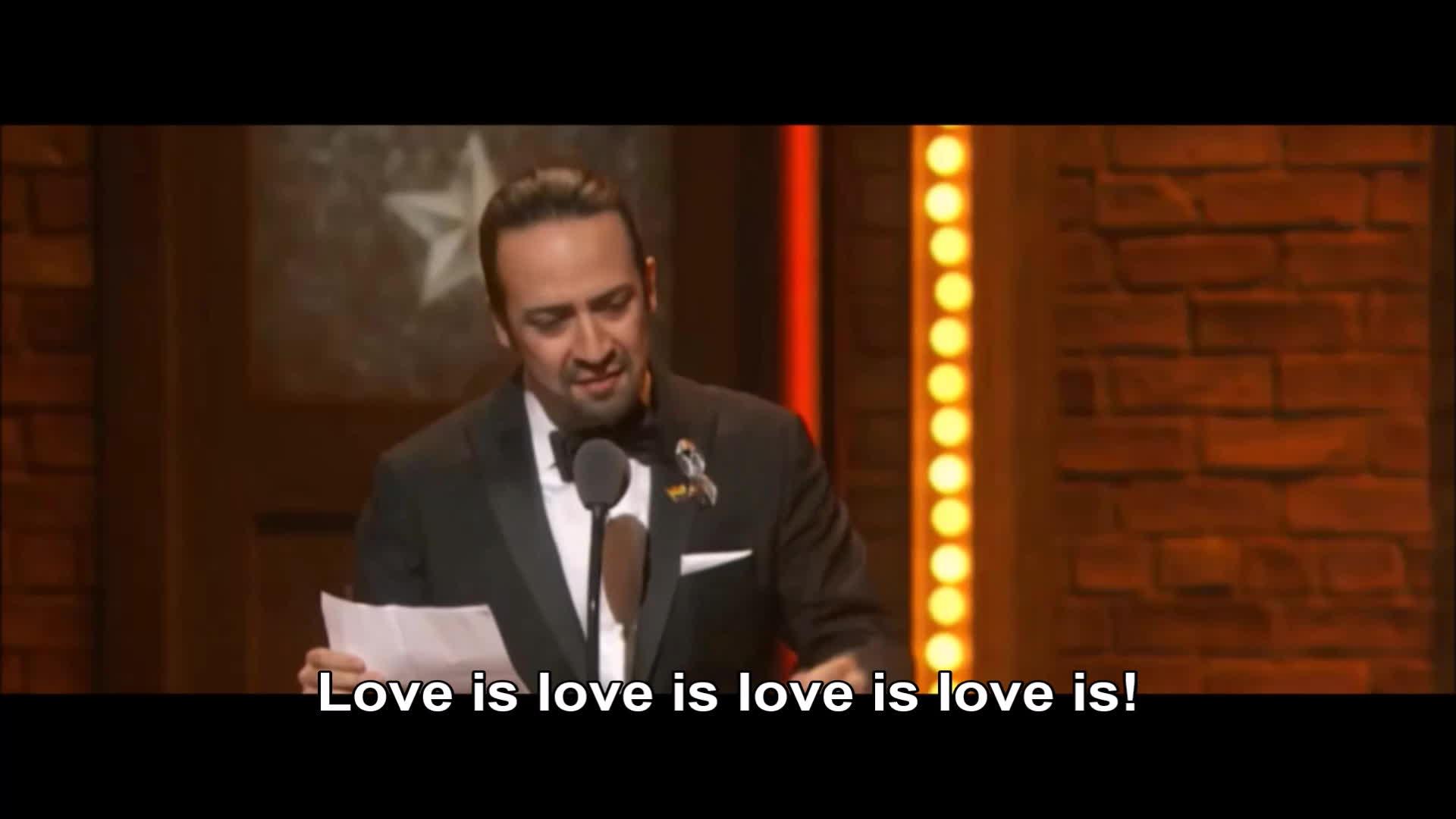 Lin Manuel-Miranda, loveislove, tony, tonyawards, LOVE IS GIFs