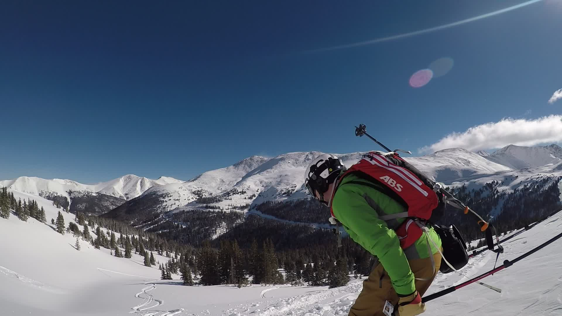 Colorado, skiing, Bluebird Pow at Loveland Pass GIFs