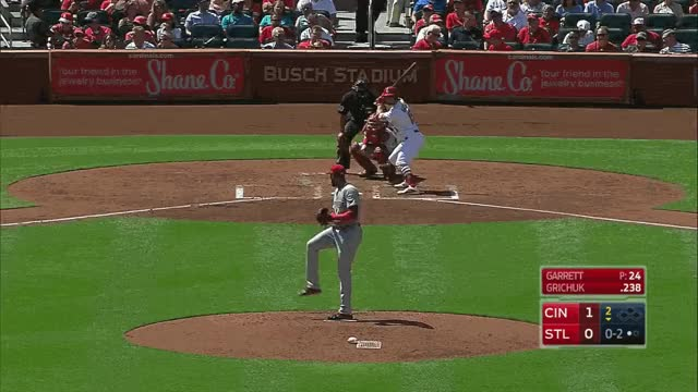 Watch and share Garret Fastball Strikeout Grichuk GIFs on Gfycat