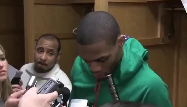 Russell Westbrook WAT! to Reporter