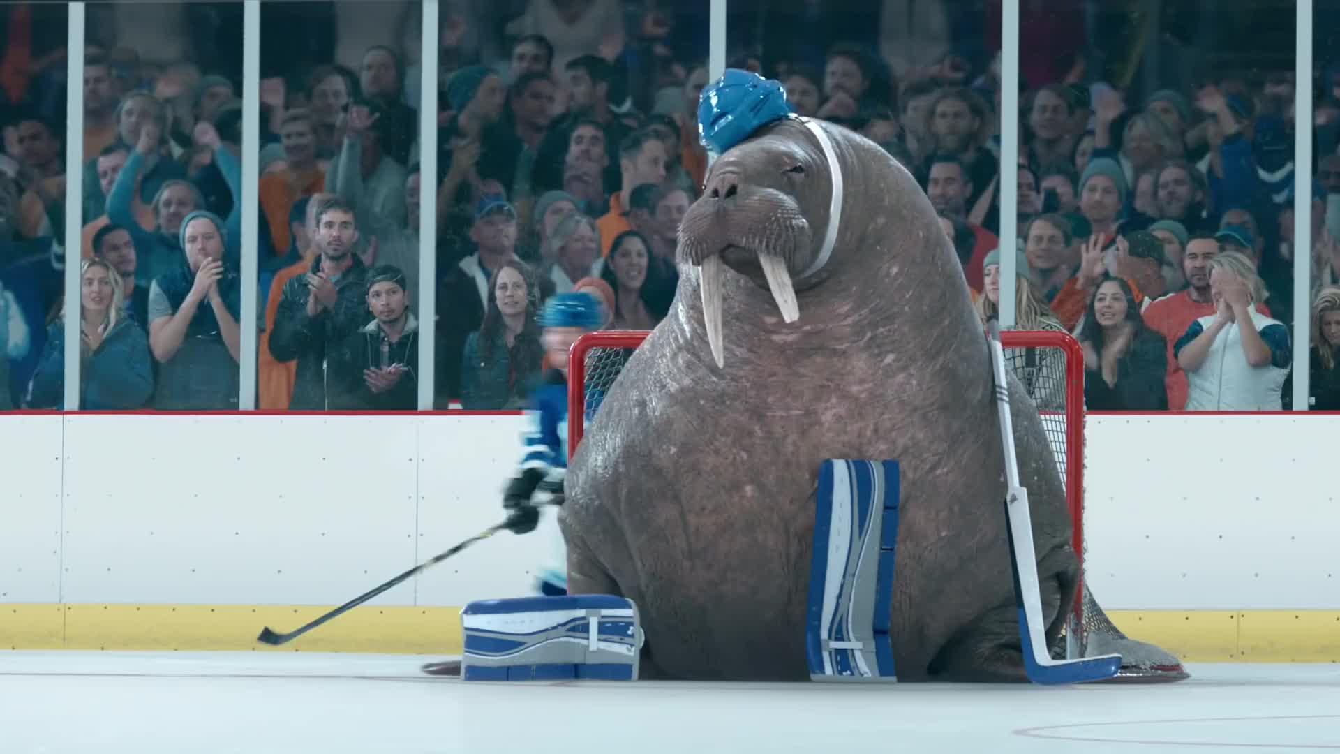 Geico Walrus Goalie High 5 Gif Find Make Share Gfycat Gifs