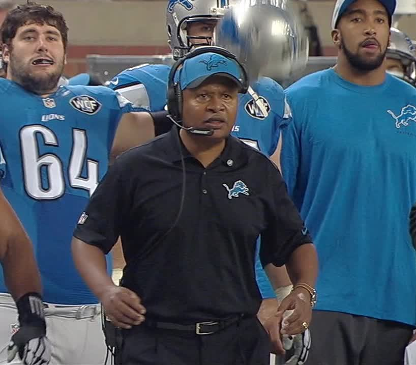 Jim Caldwell, detroitlions, nfl, Game Thread: Detroit Lions (1-7) at Green Bay Packers (6-2) (reddit) GIFs