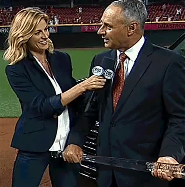 Watch and share Post Erin Andrews Rob Manfred GIFs on Gfycat