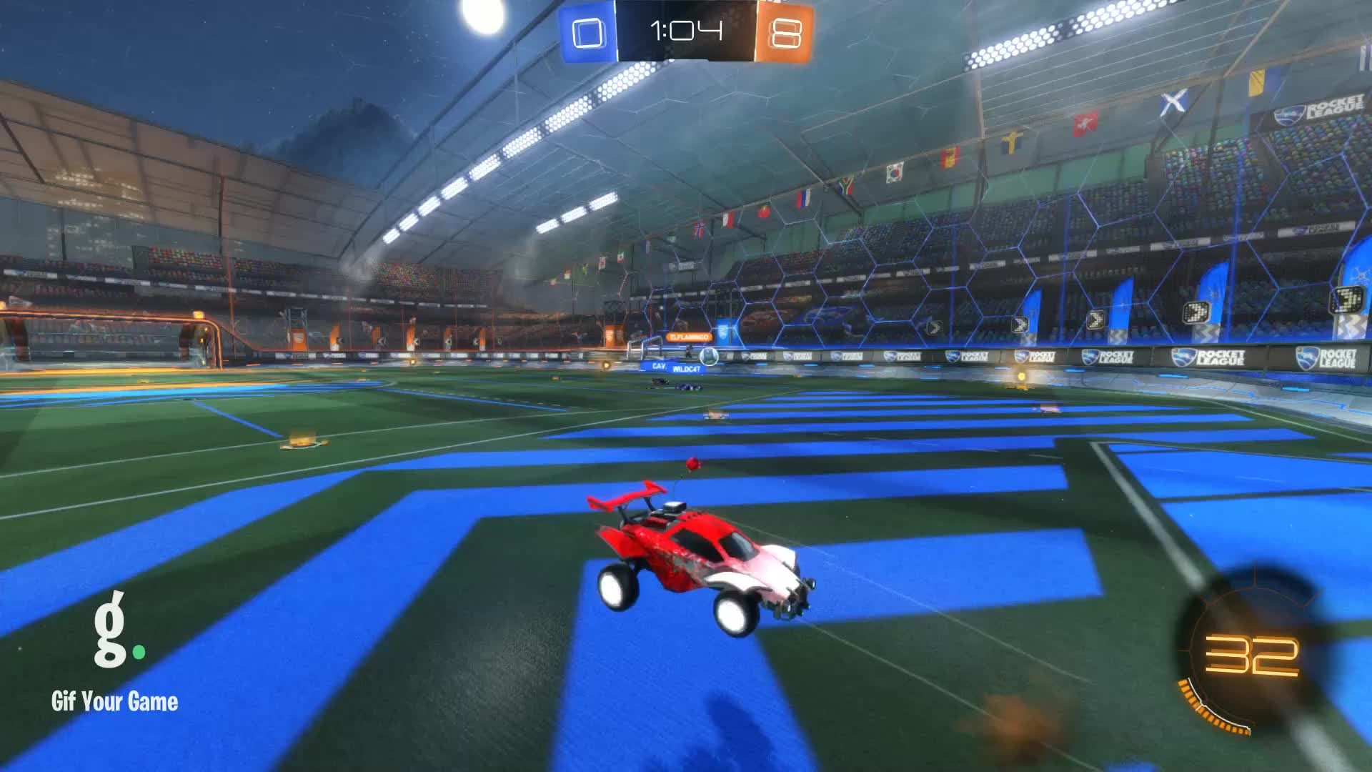 Gif Your Game, GifYourGame, Goal, Rocket League, RocketLeague, luckyman268, Goal 9: luckyman268 GIFs