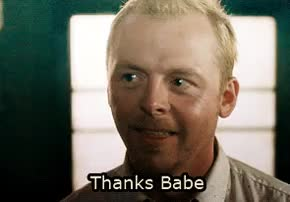 simon pegg, thanks, stop this flattery! i'm this close to not feelin shitty GIFs