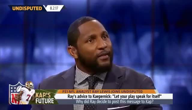 Watch and share Ray Lewis Says Hello, Colin Kaepernick | UNDISPUTED GIFs on Gfycat