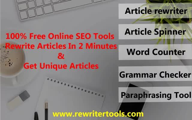Free Online Article Rewriter
