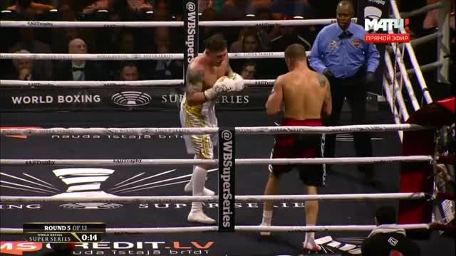 Watch Oleksandr Usyk lets his hands go in Round 5  GIF by @stnstn on Gfycat. Discover more boxing, knockdown, knockout, latvia, lomachenko, mairis briedis, muhammad ali cup, oleksandr usyk, ukraine GIFs on Gfycat
