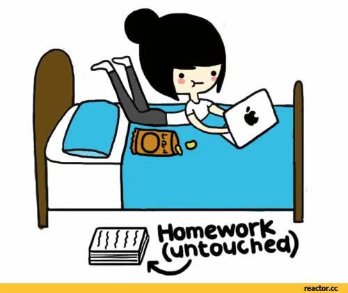 Watch and share Homework Gif GIFs on Gfycat