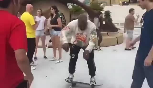 skateboard, skateboarding, Kanye West skateboarding GIFs