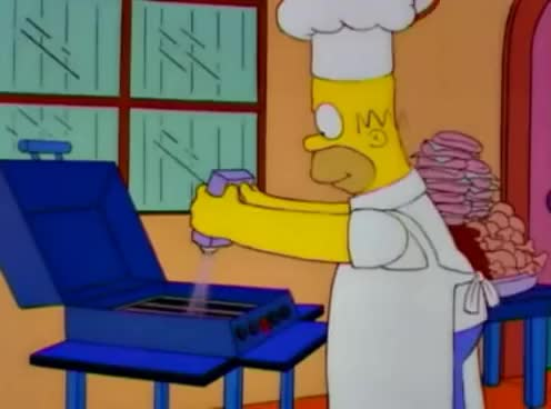 Watch and share Homer Haciendo Una Barbacoa GIFs on Gfycat