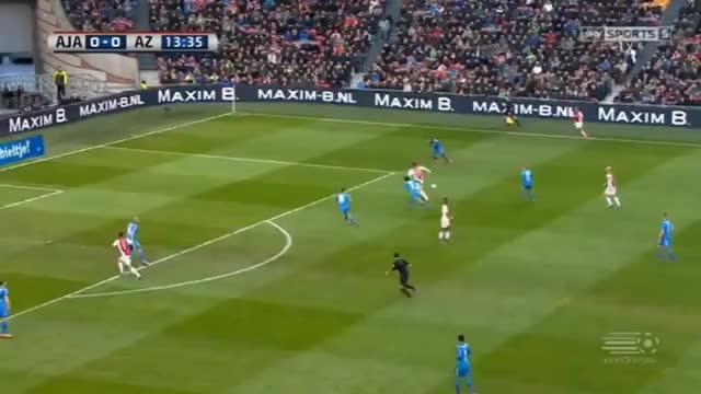 Watch and share 14'   Milik A. GOAL - Ajax  1-0 AZ Alkmaar 28.02.2016 GIFs on Gfycat