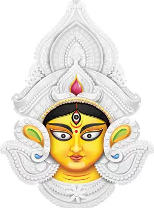 Watch and share Maa-durga-face-hd-image animated stickers on Gfycat