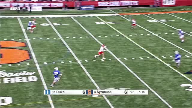 Watch Brendan Bomberry fast break goals against Duke GIF by Lacrosse Film Room (@laxfilmroom) on Gfycat. Discover more lacrosse, syracuse GIFs on Gfycat
