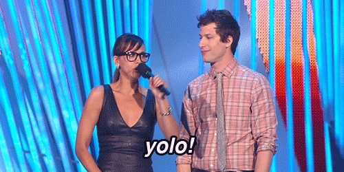Andy Samberg, i regret nothing, yolo, you only live once, YOLO - You Only Live Once GIFs