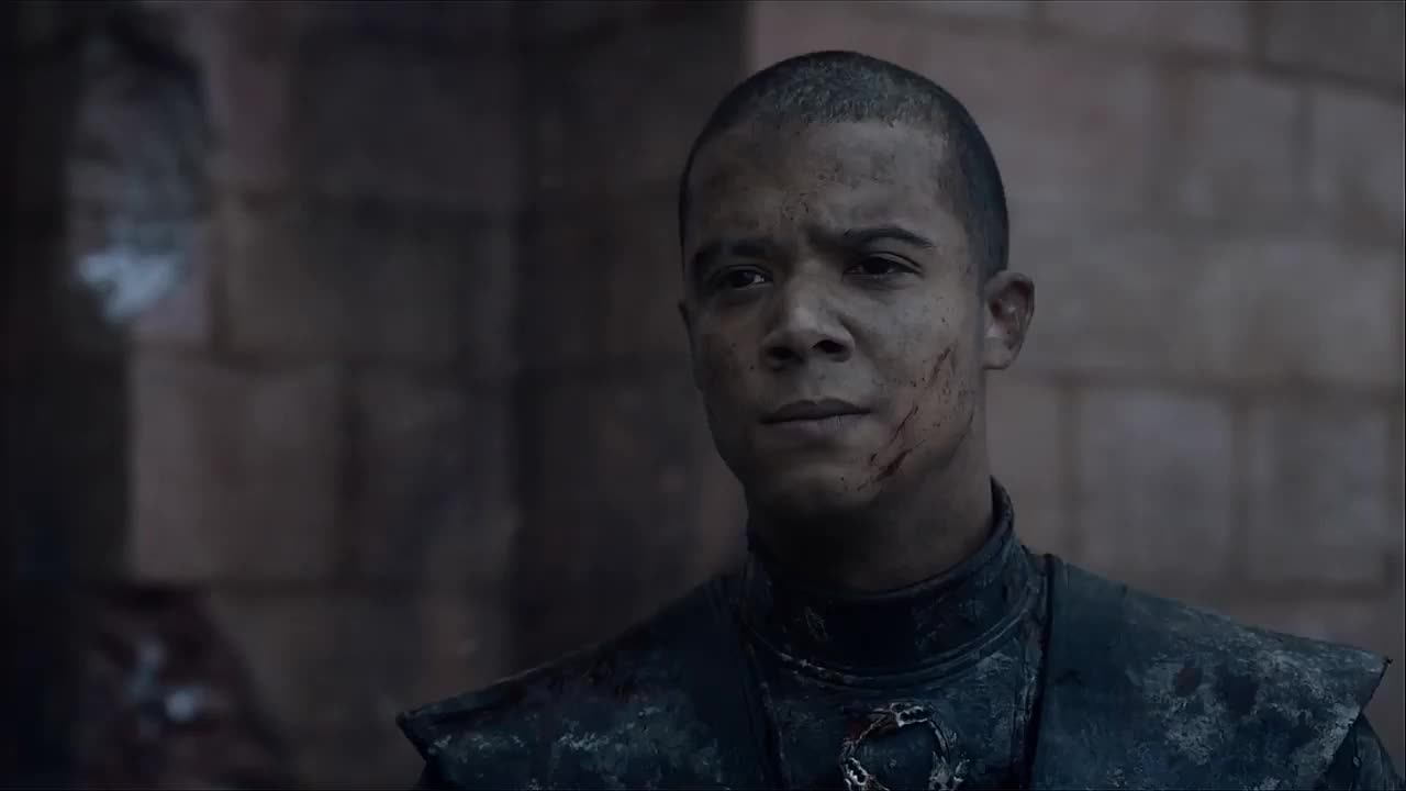 game of thrones, grey worm, head nod, jacob anderson, season 8, thank you, thanks, you're welcome, Game of Thrones Grey Worm Head Nod GIFs