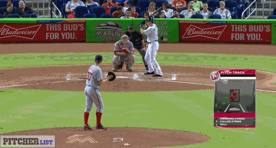 baseball, filthypitches, [GIF] Stephen Strasburg's filthy Changeup punches out J.T. Realmuto (more GIFs in comments) (reddit) GIFs