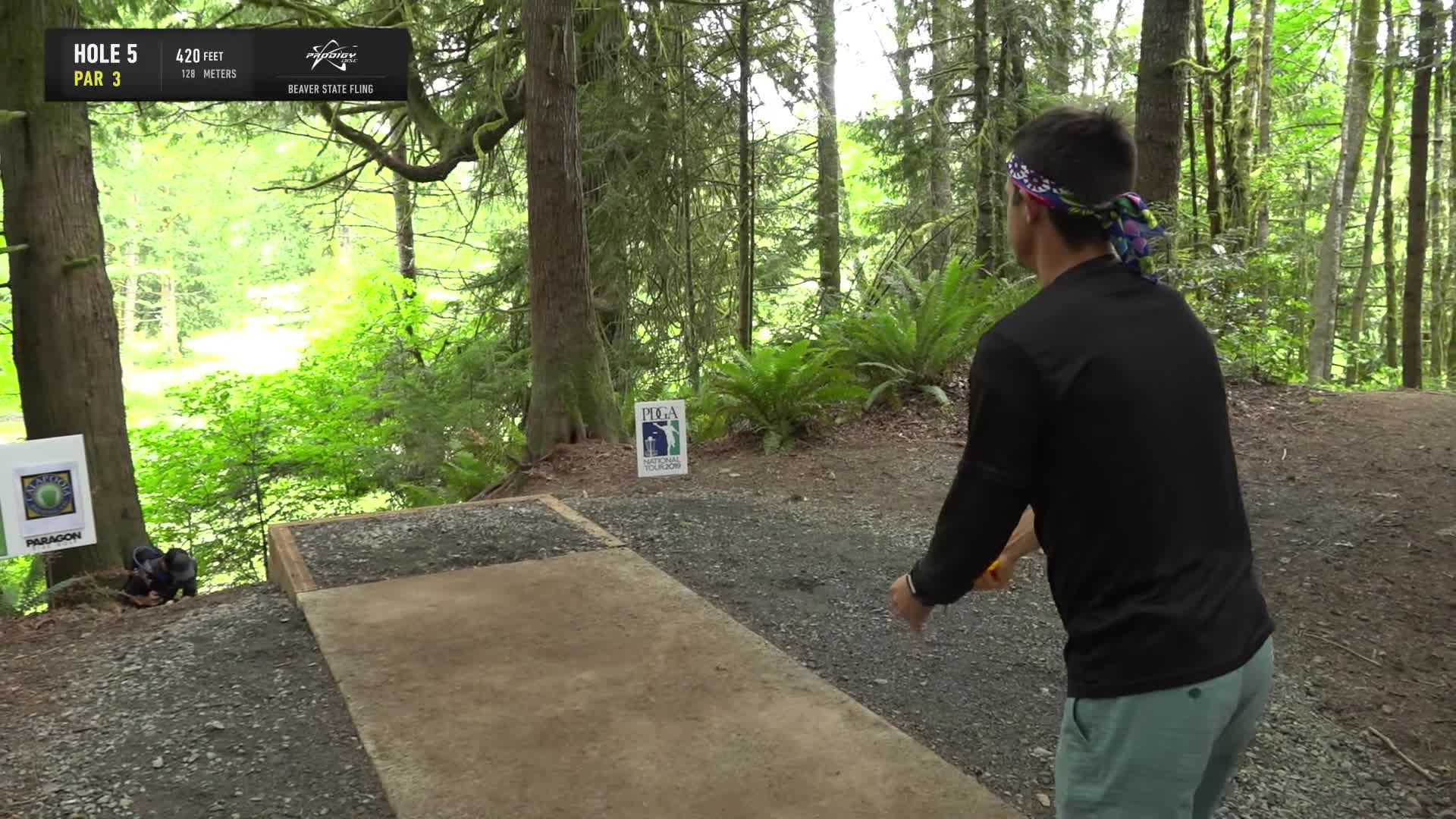 ace, bsf, dela, delaveaga, dgpt, dgwt, disc, disc golf, frolf, hole in one, masters cup, mcbeast, milo, nate sexton, nt, paul mcbeth, pdga, simon lizotte, tournament, worlds, 2019 Beaver State Fling - Round 3 Part 1 - AJ Risley hole 5 drive GIFs