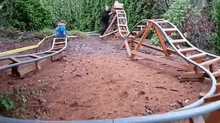 Watch and share Grandpa Makes A Mini Roller Coaster For His Grandkids • R/HumansBeingBros GIFs on Gfycat