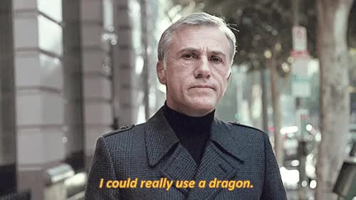 Watch and share Christoph Waltz GIFs and Dragon GIFs on Gfycat
