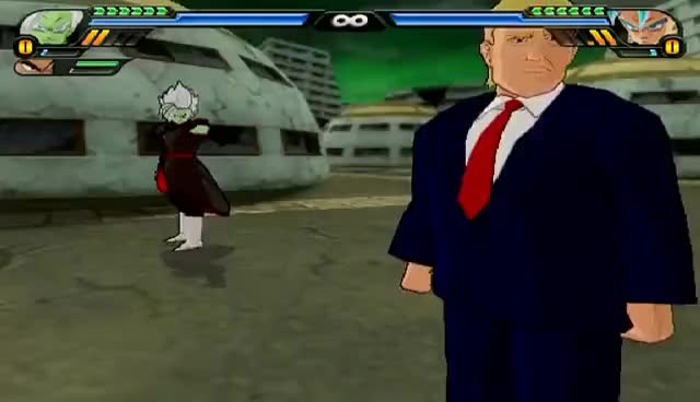 Watch and share Donald Trump And Merged Zamasu Fusion | Trumpasu | DBZ Tenkaichi 3 (MOD) GIFs on Gfycat