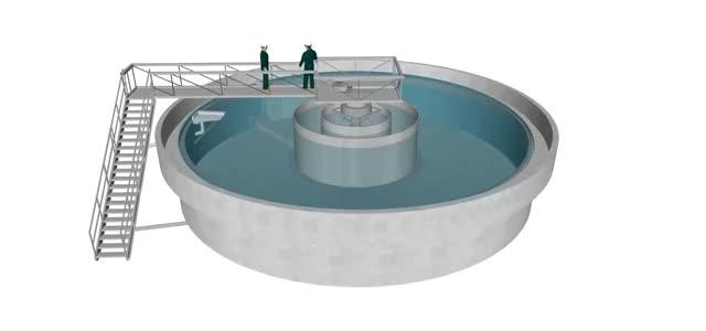 Wastewater Plant Clarifier 3D Model Animation GIF   Gfycat