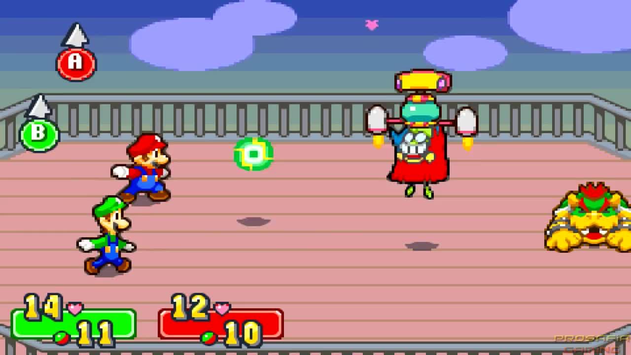 Mario Luigi Superstar Saga All Bosses No Damage Gif