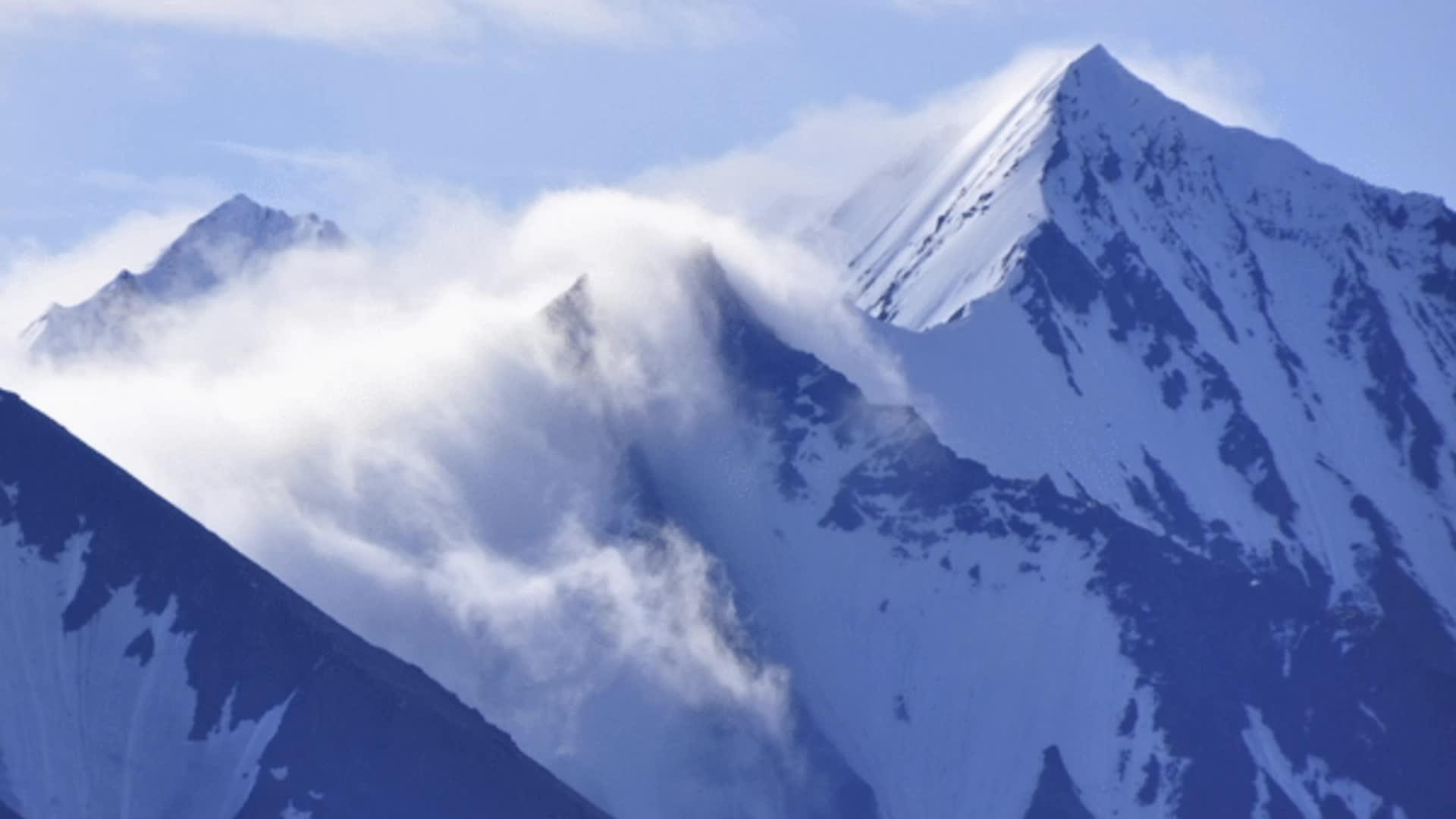 mountain, mountains, nature, Mountain Clouds v2 GIFs