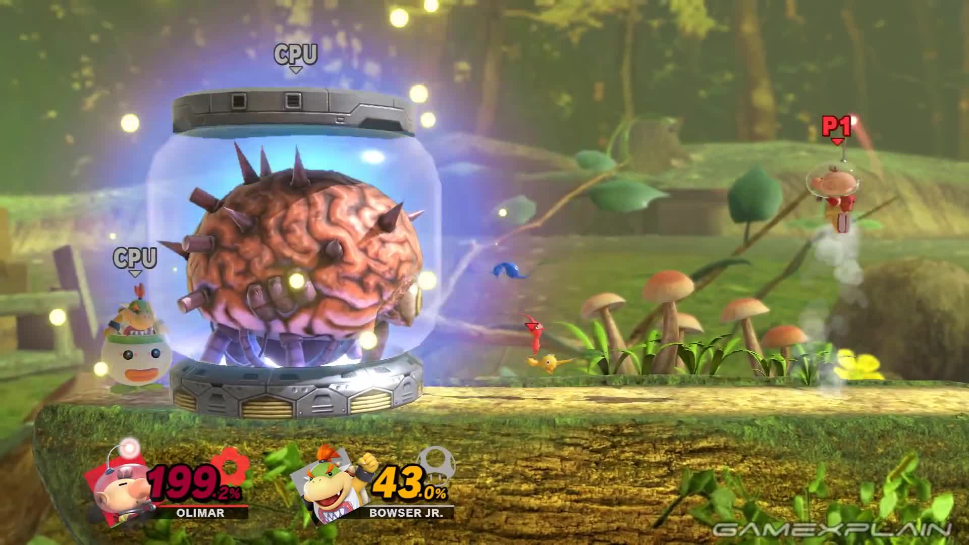 assist trophy, giant, glitch, grow, isabelle, mother brain, nintendo switch, pikmin, super smash bros., ultimate, Honey, I Blew Up the Pikmin! Super Smash Bros. Ultimate Glitch Turns Pikmin Giant! GIFs