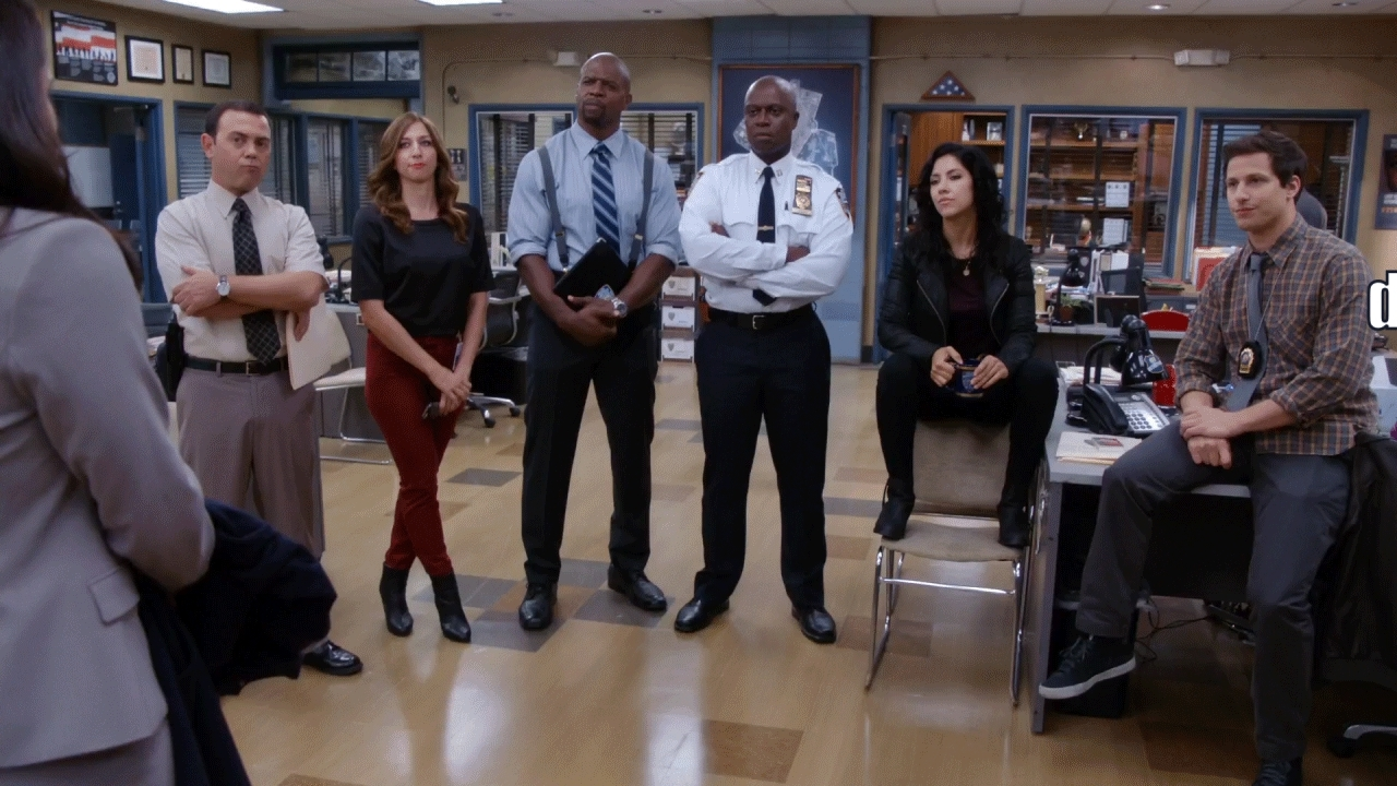 Andre Braugher, Stephanie Beatriz, Terry Crews, brooklynninenine, funny, hqrg, Hot Damn [Fixed] GIFs