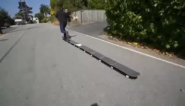 Watch and share The Centipede Skateboard (World's Longest Skateboard) GIFs on Gfycat