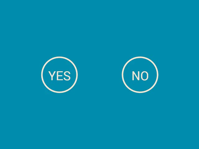 Watch and share Yes No Tick Blue Dribbble GIFs on Gfycat