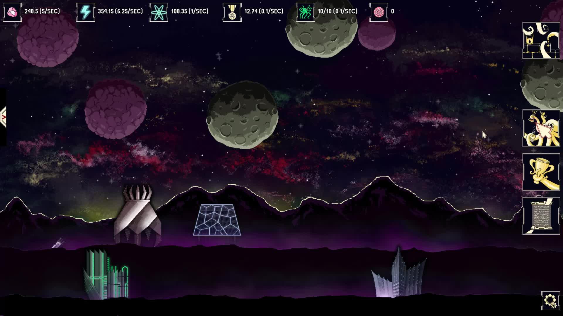 clicker, gamedev, idle game, incremental game, indiedev, Lazy Galaxy: Basebuilding GIFs