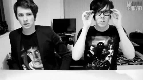 Watch and share Dan And Phil Gaming GIFs and Phan Being Adorable GIFs on Gfycat