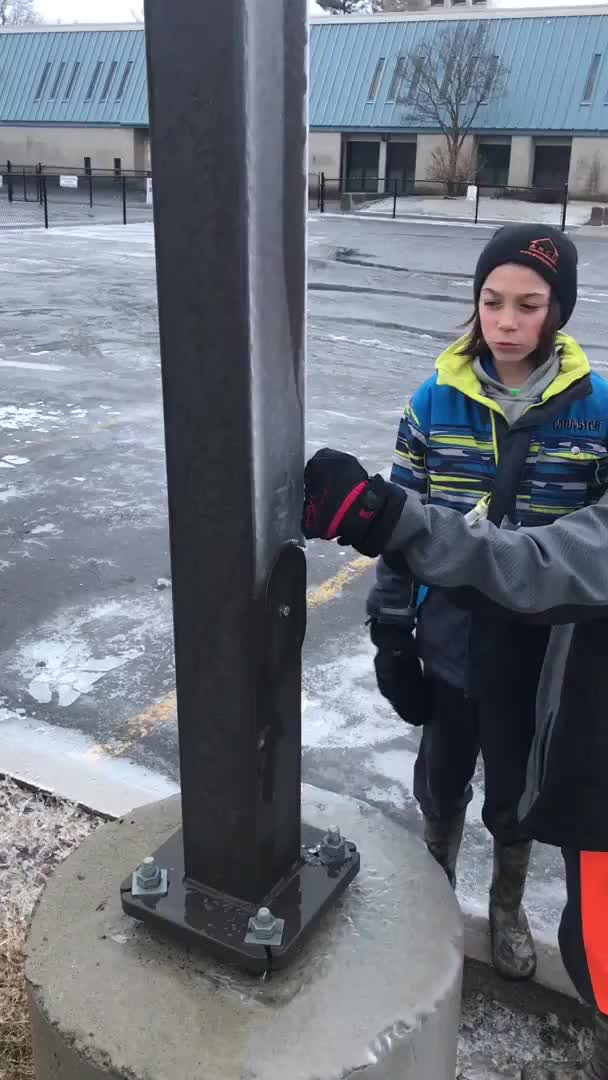 Watch Ice sliding down a light post GIF by slimjones123 on Gfycat. Discover more awesome, gifs, oddlysatisfying GIFs on Gfycat