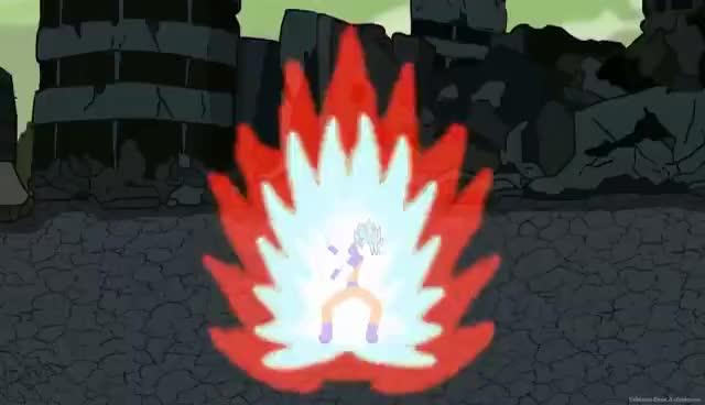 Watch and share Goku And Vegeta VS Black And Zamasu Stick Fight!! GIFs on Gfycat