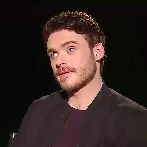 Watch this richard madden GIF on Gfycat. Discover more cinderellacast, gotcast, my gifs, possibly still his finest interview, richard madden, robb stark, the 2011 one that is GIFs on Gfycat