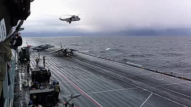 Watch and share Harrier Takeoff From HMS Ark Royal GIFs on Gfycat