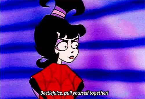 Beetlejuice Cartoon Beetlejuice Series It S Showtime Lydia Deetz Betelgeuse Gif Gfycat