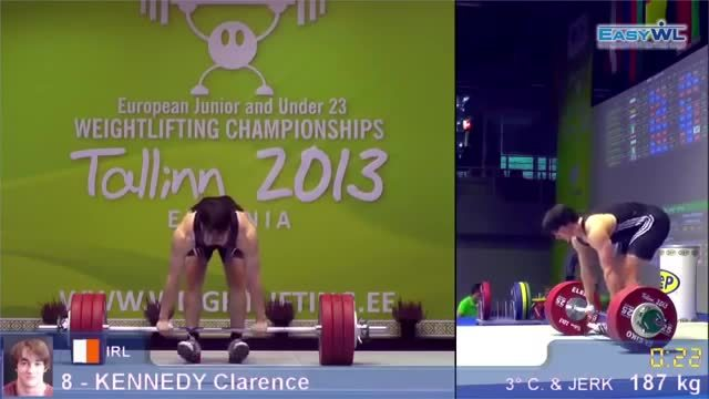 weakpots, weightlifting, Clarence Kennedy 2013 European weightlifting Junior men 94kg (reddit) GIFs