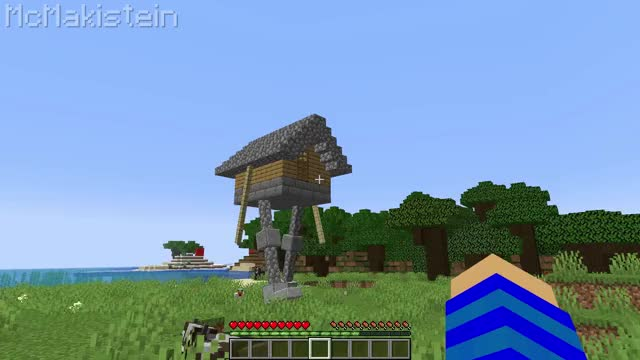 Watch and share Flying House In Vanilla Minecraft GIFs by McMakistein on Gfycat