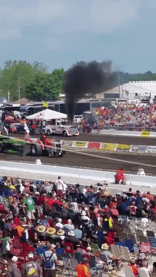 Watch Truck engine explodes during tractor pull • r/CatastrophicFailure GIF on Gfycat. Discover more related GIFs on Gfycat