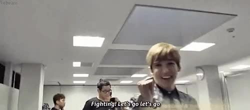 Watch () fighting~ fighting~ fighting~ GIF on Gfycat. Discover more days in japan vol 4, hoon, kevin, kevin woo, kiseop, lee kiseop, mygif, mygif4, ukiss, yeo hoonmin GIFs on Gfycat