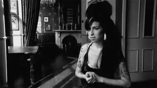black and white amy winehouse gif GIFs