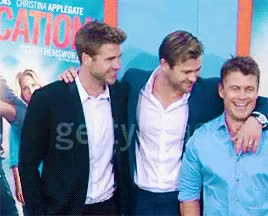 Watch and share Vacation Premiere GIFs and Chris Hemsworth GIFs on Gfycat