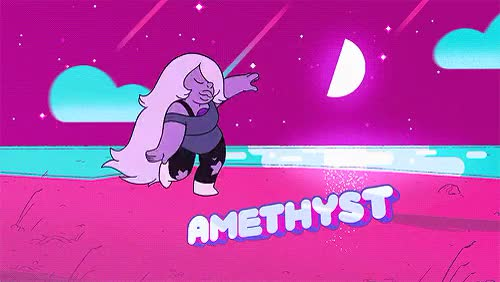 Watch this GIF on Gfycat. Discover more adventure time, amethyst, appreciation post, cartoon network, garnet, pearl, steven universe, steven universe amethyst, steven universe garnet, steven universe pearl, su amethyst, su garnet, su pearl, the amazing world of gumball GIFs on Gfycat