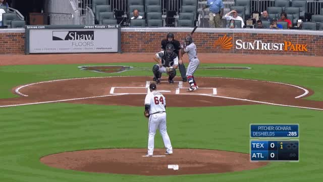 Watch and share Deshields Fastballs Out GIFs on Gfycat