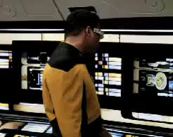 Watch Star Trek GIF on Gfycat. Discover more 1000, 6x18, Geordi LaForge, Human, Jean Luc Picard, Klingon, Star Trek, Starship Mine, TNG, Worf, reaction gifs, smile, smug GIFs on Gfycat
