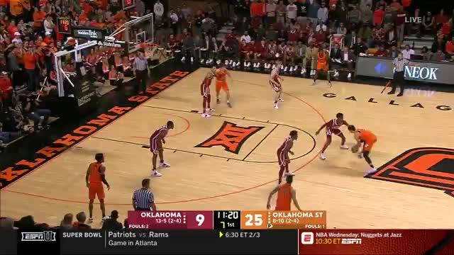 mla313, College Basketball: Oklahoma at Oklahoma State | ESPN U | Clippit GIFs