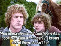 Watch and share Elevenses, Luncheon, Afternoon, Tea, Lotr GIFs on Gfycat